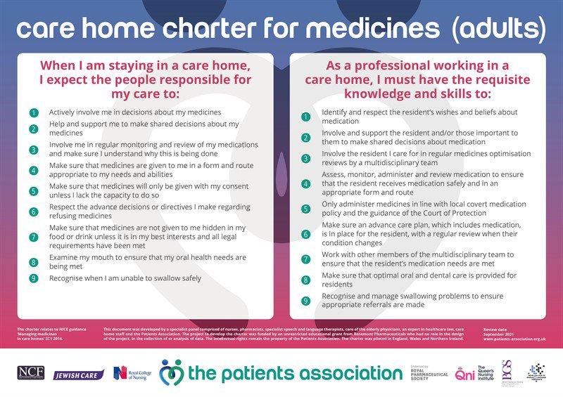 Patients Association Launches Care Home Charter