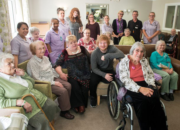 Ed and Mills Meadow care home residents low res