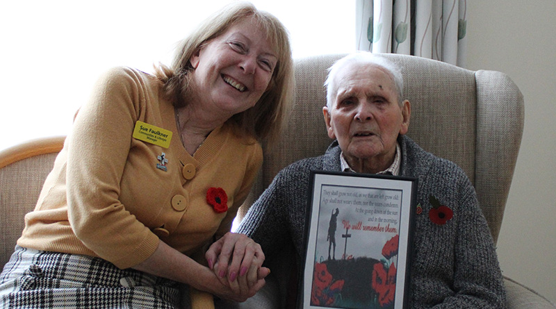 Veterans At Sir Aubrey Ward House Enjoy Talk To Mark Remembrance Day