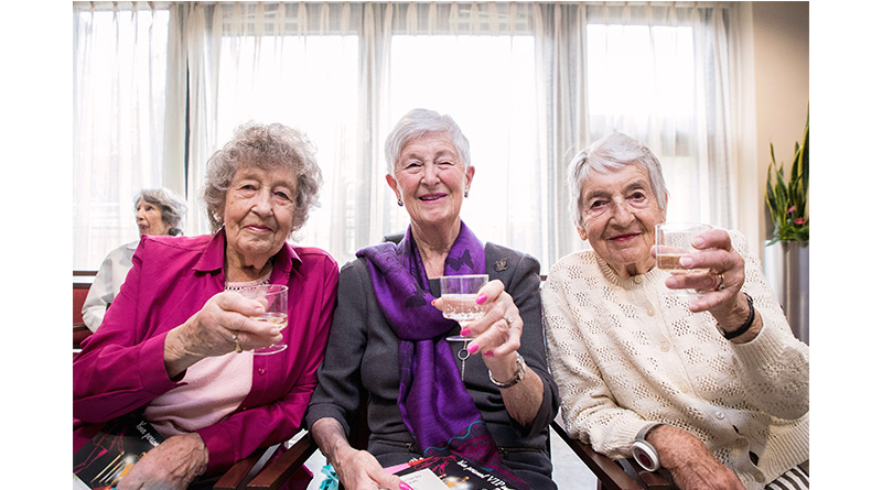 'Voyage of the Damned' Sisters Recognised in New Year's Honours - Annie M.G. Schmidt et al. sitting posing for the camera - Photograph