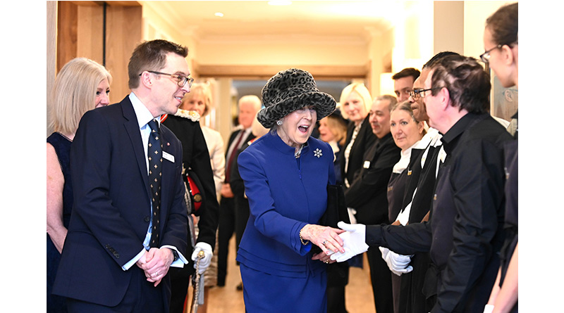 Princess Meets WW2 Veterans And Invictus Games Athlete At Royal Star & Garter's High Wycombe Official Opening