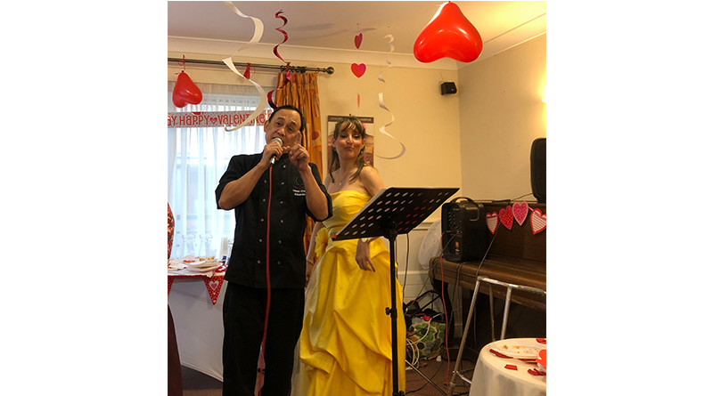Valentine's Love And Laughter At Watford Nursing Home