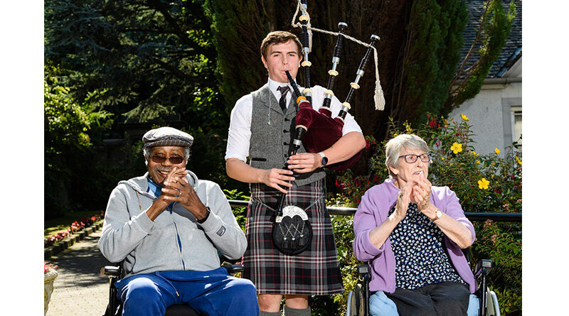 Scottish Tunes Fill The Walls Of Midlothian Care Home