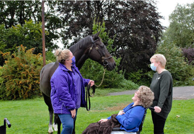 Coombe End Court Residents Meet Former Racehorse Ouzbeck As Part Of An Elderly Wellbeing Pilot Project, Run By Racing Sector Collaboration